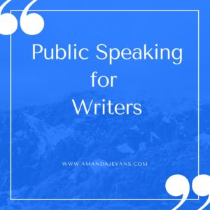 public speaking for writers